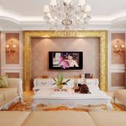 欧式暖色系电视背景墙装饰