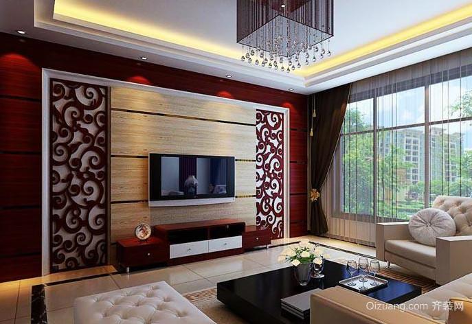 2015全新欧式客厅电视墙装修效果图