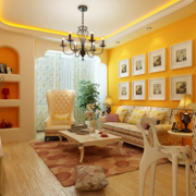 欧式风格客厅照片墙装饰