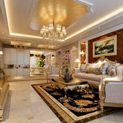 简欧风格客厅奢华沙发装饰