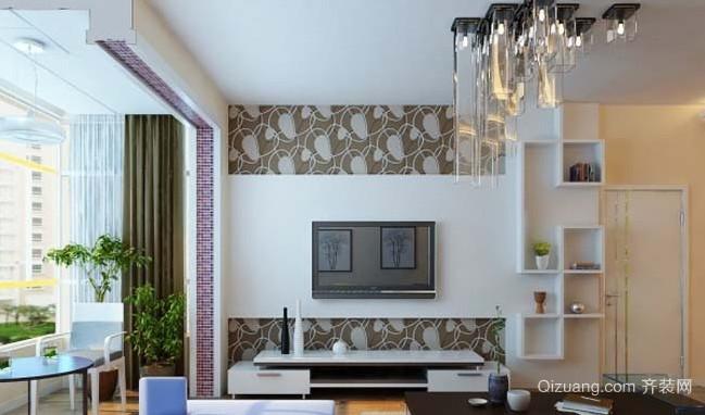 2015全新韩式客厅电视背景墙装修效果图