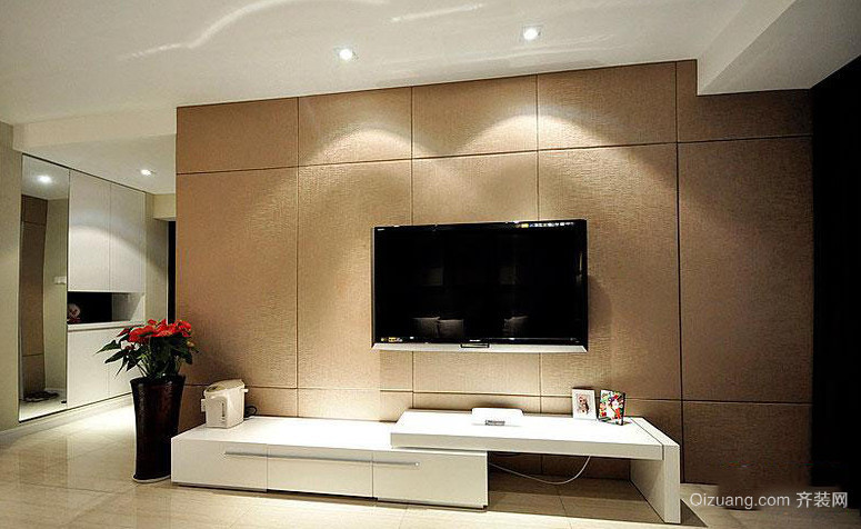 90平米欧式客厅电视柜背景墙装修效果图