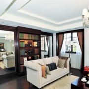 后现代风格简约客厅沙发装饰