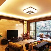 暖色调中式电视背景墙