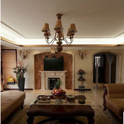 欧式客厅吊顶灯饰装饰