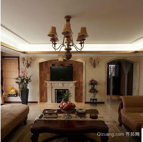 欧式小户型客厅吊顶装修效果图