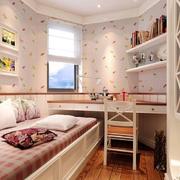 韩式田园浅色系卧室壁纸装饰
