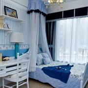 儿童房梦幻蓝色壁纸