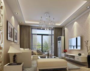 90平米简欧风格客厅装修效果图