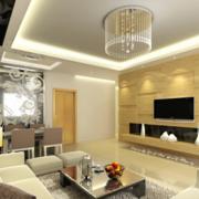 现代简约风格客厅灯饰装饰