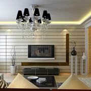 欧式简约风格客厅隐形门装饰