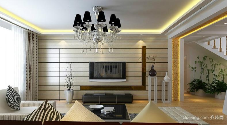 90平米现代欧式客厅隐形门装修效果图
