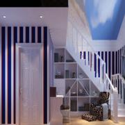 阁楼简约风格白色楼梯装饰