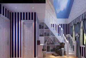 2015现代地中海风格阁楼楼梯装修效果图