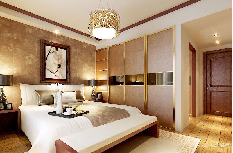 三室一厅欧式卧室壁纸装修效果图