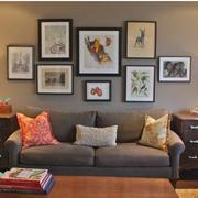 小户型后现代风格客厅沙发背景墙装饰