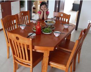 现代折叠式实木餐桌