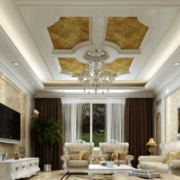 欧式客厅浅色奢华背景墙装饰