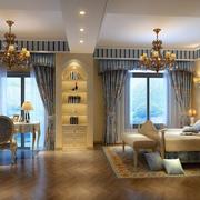 欧式奢华风格卧室背景墙装饰