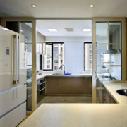 复式楼简约风格厨房推拉门装饰