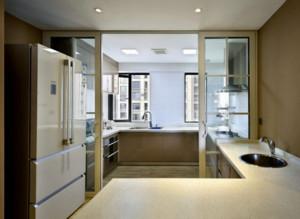90平米房屋小户型厨房推拉门装修效果图