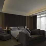 90平米房屋后现代风格卧室飘窗装饰