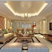客厅软包沙发背景欣赏