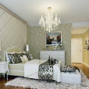 卧室白色软包背景墙