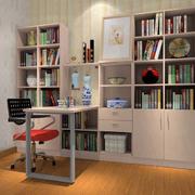 书房简约风格电脑桌装饰