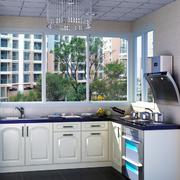 美式简约风格L型厨房装饰