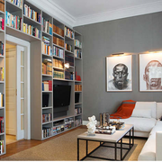 loft风格书房整体书架装饰