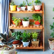 阳台实木盆栽架展示