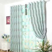 田园浅蓝色窗帘