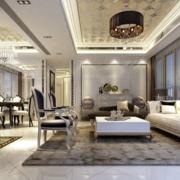 欧式风格客厅简约飘窗装饰