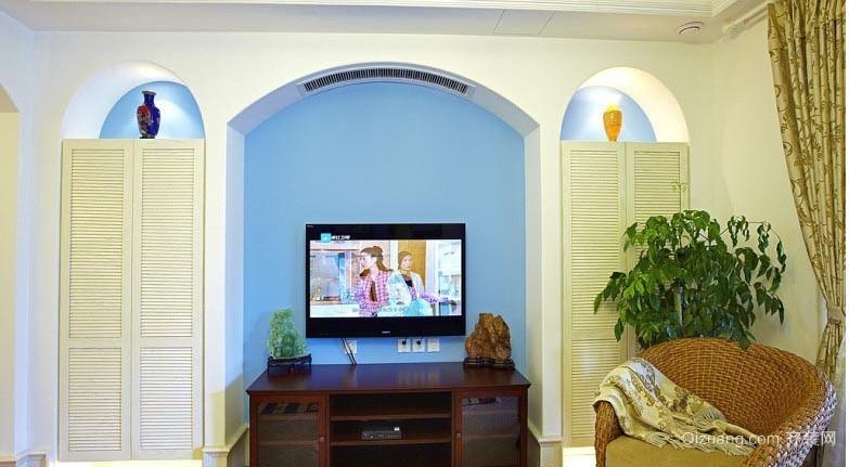 地中海风格别墅隐形门装修效果图