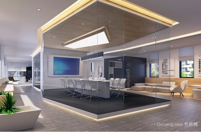 2015现代办公室装修效果图