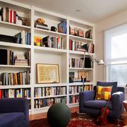 混搭风格书房整体书柜装饰