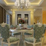 美式优雅风格餐厅小型酒柜装饰