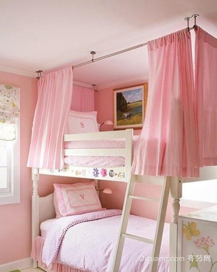 2015粉色儿童房设计装修效果图