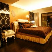 欧式风格深色系卧室壁纸装饰