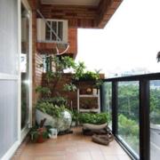 农村房屋简约阳台装饰