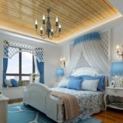 地中海卧房白色系背景墙装饰