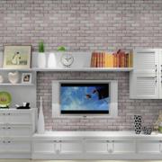 简约风格仿石制电视背景墙装饰