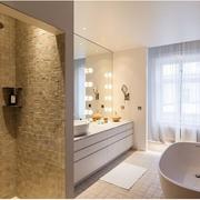 卫生间简约风格浴缸装饰