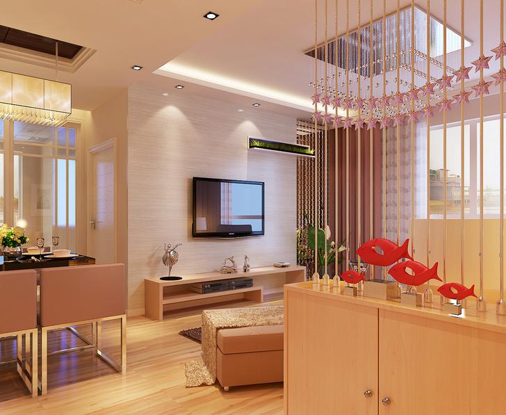2015 别墅型 欧式客厅 玄关 隔断装修效果图 齐装