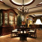 简约餐厅整体式酒柜装饰