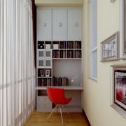 简约小型阳台书房装饰