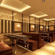 火锅店简约风格原木桌椅装饰