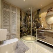 简欧风格深色系卫生间瓷砖装饰