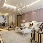 欧式奢华客厅沙发背景墙装饰